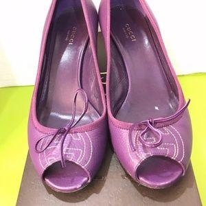 Gucci Cellarius Soft Purple Wedge Sz. 38.5 Ladies
